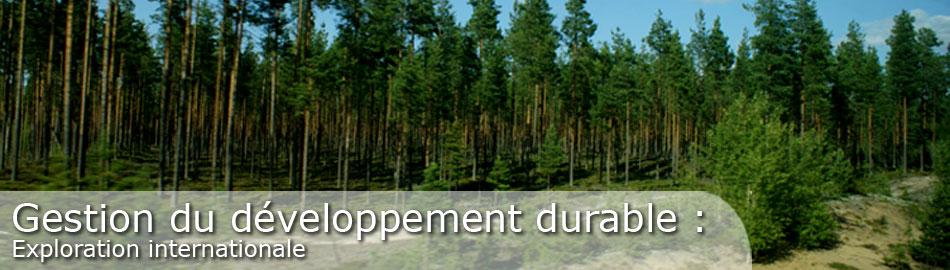 Gestion du développement durable : Exploration internationale (ESG 600-L et 600-M)